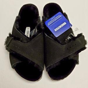 New Birkenstock Arosa Shearling Sandals